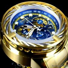 Invicta Reserve I-Force Hybrid Gold Plated Steel Blue Swiss Mvt 52mm Watch New
