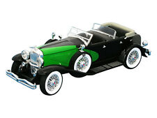 Black 1:32 Scale 1934 DUESENBERG Diecast Model Classic Car By Signature