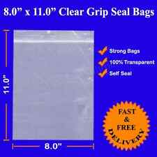 8 X 11 in (approx. 27.94 cm) 1000 marca Agarre Sello Zip Lock Resellable Plástico Transparente 20 cm x28cm