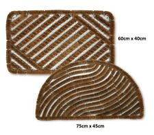Heavy Duty Traditional Coir & Wire Outdoor Entrance Doormat Boot Scraper Mat 60cm X 40cm