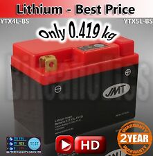 Upgrade your motorcycle battery to lithium and save 1.5kg YTX5L light weight!
