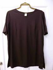 Ladies Long Top Size 10 Brown Short Sleeve Womens BNWT