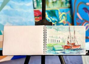 original artist's Sketch Book drawing Paper Pad art book watercolor painting