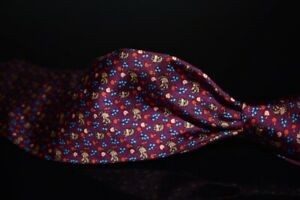 NWT Brooks Brothers Made in NY Grape Wine Raccoon Apple Blue Fruits Silk Tie NR