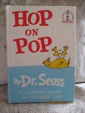 """Classic, Vintage 1960's Dr. Seuss Book """"Hop on Pop"""". Random House Books 1963"""