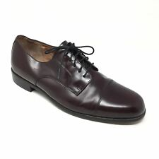 Men's Bostonian Classics Akron Oxfords Dress Shoes Size 11.5M Burgundy Z10