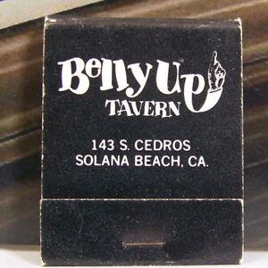 Vintage Matchbook P1 Solana Beach California Belly Up Tavern Entertainment Fun