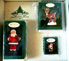 1996 Hallmark Keepsake 3 Ornament Membership Kit Collector's Club~ Rudolf Santa