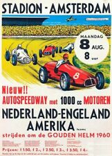 Vintage 1960 Amsterdam Autospeedway Motor Racing Poster Print A3//A4