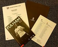 Fulham v Middlesborough Matchday Programme with official teamsheet 18/1/2020!!!