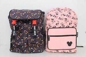 Disney Mickey Mouse Rucksack Schwarz Rosa Minnie Bag Tasche Umhänge Micky Maus