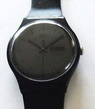 Swatch Watch-2010-Black Rebel-SUOB702-Day/Date-Polished Crystal-New Battery