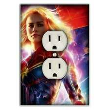 Captain Marvel Light Switch Outlet Cover - Decorative Switch Plate Outlet Cover