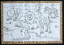 Paper Placemats Case Of 1,000 Zoo Design Free Shipping