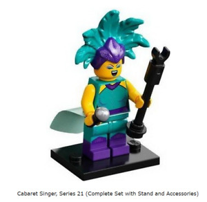 Lego Cabaret Singer, Series 21 (Complete Set with Stand and Accessories)