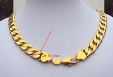 Heavy! 108g Stamp 24k Gold 23.6inch  Men's Necklace 12MM Curb Chain Jewelry