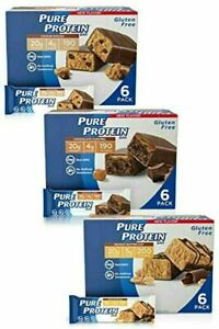 Pure Protein Bars High Protein Guilt free Snacks Energy Low Sugar 1.76oz x 18 pc