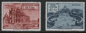 VATICAN 1949 - Both Basilicas Issues - EXPRESS - SG E149 & SG E150 MNH