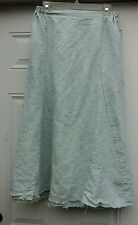 Krista Larson Simple Skirt in 100% Linen in a Pale Sky Blue, one size