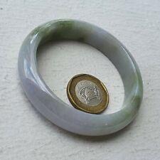 55mm Certified Type A Jadeite Bangle Lavender Green Golden Jade