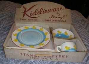 Stangl Pottery Little Quackers Kiddieware set Original Box Mid-century Dishes