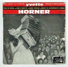 Yvette HORNER POCHETTE Vide 45T EP PERLES DE CRISTAL - REINE MUSETTE - PATHE 54