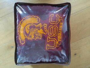 Vintage Pendleton USC TROJANS Wool Lap Stadium Blanket Robe in a Bag USA Cushion