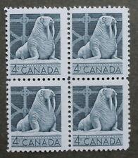 Canada  4  cent stamp 1954  Block  MNH sc # 335 Walrus  Wildlife