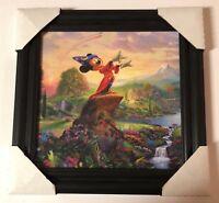 Thomas Kinkade Signed Disney Fantasia Mickey Mouse Framed Painting 15 x 16 Inch