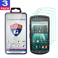 (3 Pack) GLASAVE Kyocera Brigadier E6782 Tempered Glass Screen Protector Film