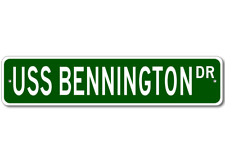 USS BENNINGTON CVS 20 Ship Navy Sailor Metal Street Sign - Aluminum