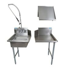 Bk Resources Bkdtk 72 L G 72 Stainless Steel Dish Table Clean Room Kit