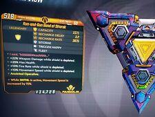 Level 53 Run-and-Gun Band of Sitorak Zane 15 SNTNL Move Speed 15% xbox BL3