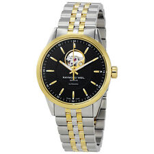 Raymond Weil Freelancer Black Dial Two-tone Stainless Steel Mens Watch