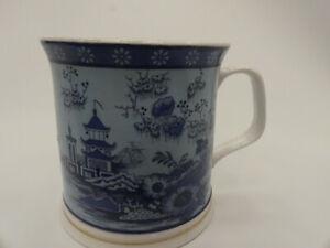 (ref288MG1)  Chinese design mug blue
