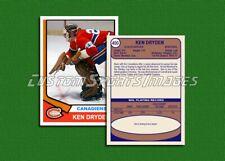 Ken Dryden - Montreal Canadiens - Custom Hockey Card  - 1973-74