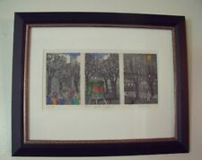 "JOHN DORISH: ""New York Triptych"" Etching Hand Color NYC Contemporary Signed 8/90"