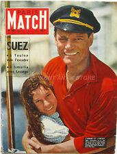 Paris Match n°383 - 1956 - Eddie Constantine - L'andréa Doria - Marlène Dietrich