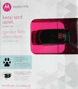 NEW - Motorola Dog No-Bark Collar SCOUTBARK100  9 Correction Levels Anti-bark