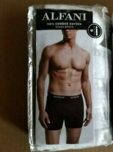 $19.99 Alfani Boxer WHITE Briefs 4 PK  Mens Size:S 100% Combed Cotton SHIPS FREE