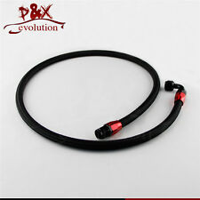 """55"""" 8AN Nylon Steel Braided Oil/Fuel Line w/ Fitting Hose End Adapter"""
