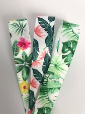 Great Quality Tropical Plants Satin Ribbon in 3m, 5m or 10m cut lengths