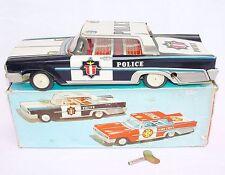 FSC Italy 1:18 FORD GALAXY CROWN VICTORIA POLICE Car Friction Tin Toy Car MIB`62