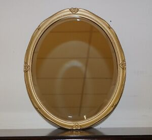 STUNNING OVAL ORNATE GOLD MIRROR