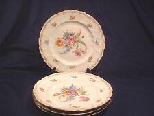 4 Antique Dresden German Porcelain Richard Klemm Dinner Plates C1900