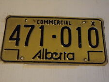 Expired ALBERTA CANADA Commercial X License Plate 471 010 can