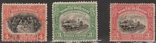 (Rs15) 1922 Nth Borneo 3stamps 3c, 4cF/U, (3c O/P Malay