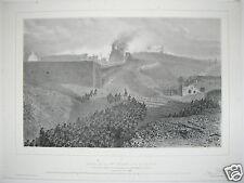 Auguste Raffet Siege de Rome 1859 chalk lithograph Depart de la 3eme Colonne