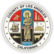 1x STICKER Los Angeles LA county seal California bumper