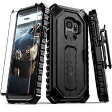 Funda Para Samsung Galaxy S9, Elv [Serie Croco] Clip Para El Cinturon Del De...